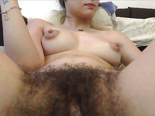 Linda buceta peluda na webcam