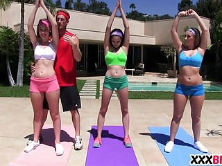 Yoga Class Get The Cock