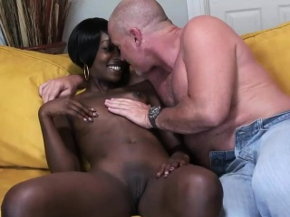 Black girl plays with a delicious dick