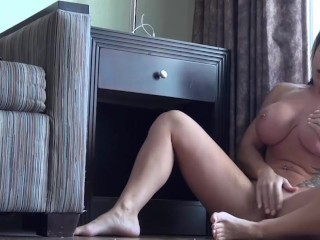 FBB Angela Salvagno dominates and squishes her tits
