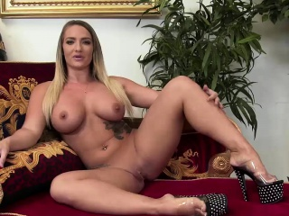 Amazing girl plays with a black dick