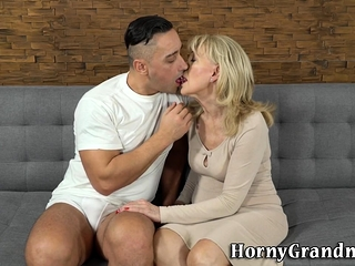 Blonde grandmother cream