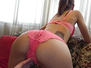 Doggy-style was very erotic creampie