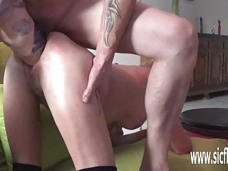 Double fisting and XXL dildo fucked MILF