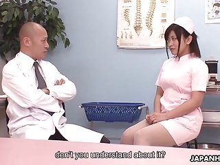 Doctor shows his nurse how to squirt with these sex toys