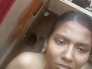 Horny Tamil girl showing and fingering on video call