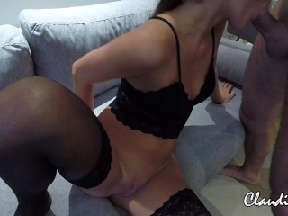 Claudia`s first creampie experience
