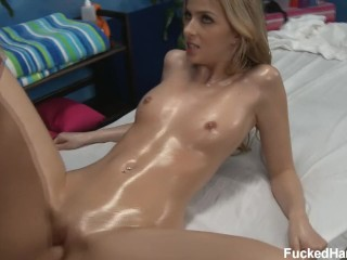 [HD] Sexy and hot blonde girl Abigaile Johnson does massag FuckedHard18