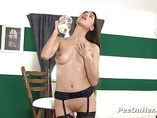 Pee On Tits- Gorgeous Paula Shy gets drenched before sucking