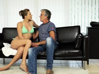 Waking daddy and old woman sucking dick Sex with her boycron