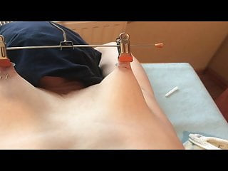 Slave Nippel Breast Torture Stretching Needle
