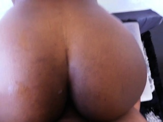 Booty ebony fucked hard