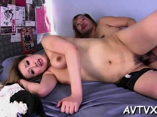 Horny guy is satisfying asian babe with zealous cunnilingus