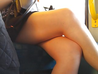 sexy juicy thick thighs sideskirt hidden cam voyeur