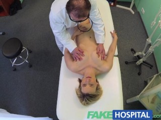 FakeHospital Horny milf swallows a load of the good doctors cum