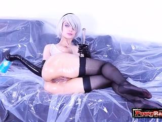 Hot pornstar double penetration with orgasm