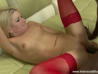 Blonde Takes BBC Deep Into Ass
