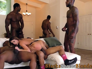 Interracial group cutie