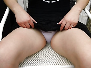 Ex girlfriend shows me her white panties