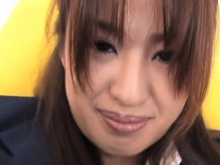 Agreeable japanese schoolgirl bonks her hairy twat with toy