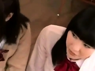 Nice Japanese teen in bondage for group sex