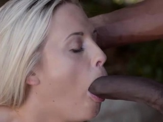 Hot pornstar interracial and cum in mouth