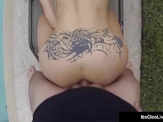 Hot Cam Girl Its Cleo & GF Sageness Double Team A Hard Cock!