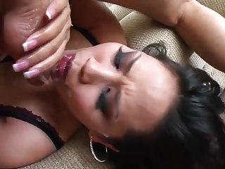 Busty Asian Slut JB Deepthroat Blowjobs