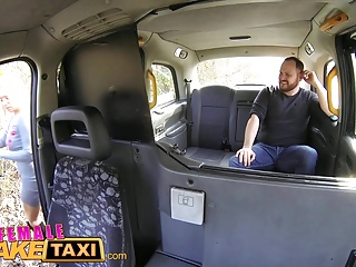 Female Fake Taxi Lost busty cabbie fucks lucky guy