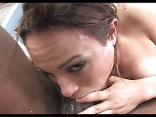 Petite Brunette AR Interracial Sloppy Face Fucking