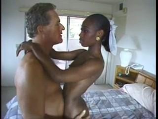 she LIKES his dick (cute black newbie can't stop cumming)