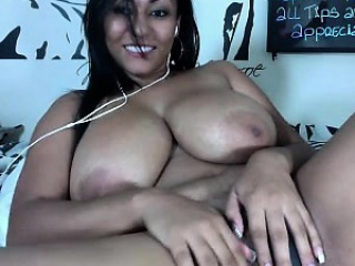 Angel eyes busty ebony slut big boobs