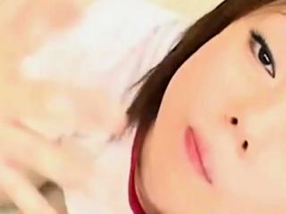 Asian Schoolgirl Drooling Blowjob And Cumplay