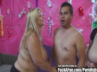 Big Tit Samantha 38G Fuck A Fan