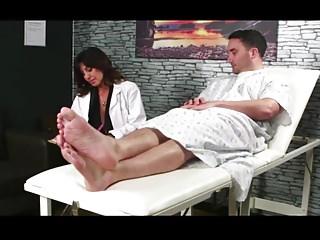 Doctor helps patient