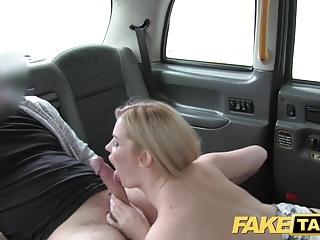 Fake Taxi huge natural tits on blonde model