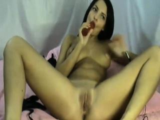 Brunette pink nipples webcam Rebbecca live on 720camscom