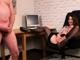 Spex domina dominates naked sub
