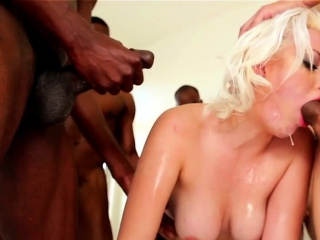 Blonde gets pov bukkaked