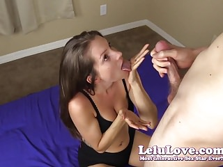 Amateur girl sucks cock and gag swallows his cum