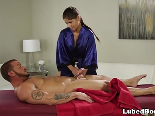 Married guy fucks the hot masseuse Katya Rodriguez