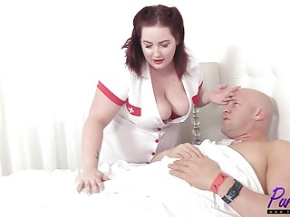nurse Eliza revitalizes the cock