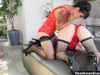 RealAsianExposed - Oriental lesbians with anal fantasy