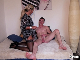 German Big Cock Teen Seduce Big Tit MILF To Fuck her Anal