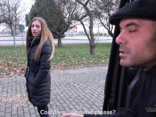 Blonde wannabe pornstar and fuck first persone she meet to fuck