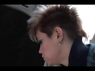 Brunette short hair fucked trip