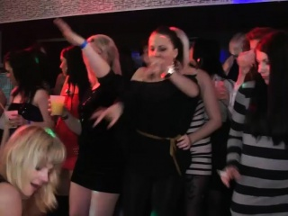 Beautiful amateurs get fucked in the club