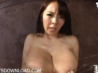 Busty asian with giant natural tits