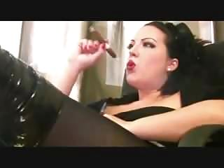Sandy Yardish cigar on webcam again