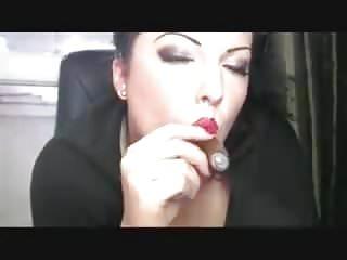 Sandy Yardish cigar on webcam again